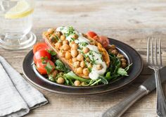 Recipe Archive Roasted Sweet Potatoes with Crispy Spiced Chickpeas Recipe