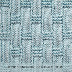 Knit - purl stitches | | Textured Tiles -  Knitting in the round