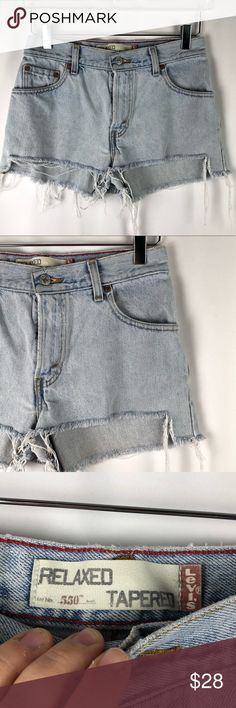 Shorts Shop Art Denim Shorts Size 28 Ripped Garment Dye Patched Sequined Turn-up Cuffs Mild And Mellow