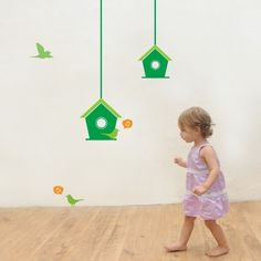 CoolWallArt.com: Bird's House kids Wall Decal, $49.95