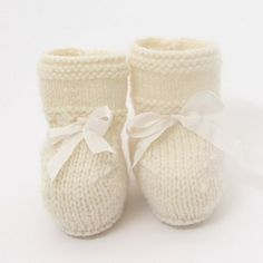 Baby Booties / Knitting Pattern / French Instructions / PDF /