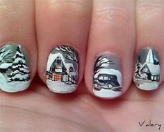 I am showcasing inspiring winter nail art designs and ideas of for girls. Give a glittery touch to your nails. For Christmas, make Santa Claus' hat, snowflakes, bobbles and different chilled patterns to enhance your nails. Holiday Nail Art, Winter Nail Art, Christmas Nail Art, Winter Nails, Winter Christmas, Christmas Time, Winter Snow, Winter Holidays, Nail Design Spring