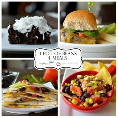 4 Meals from 1 Pot of Beans {+Kitchen Supplies Giveaway} I want to make the black bean brownies.