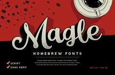 Magle Coffee Branding Script by Konstantine Studio on @creativemarket