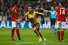 Alexis eventually levelled for Arsenal.  Sanchez didn't make easy work of the penalty, as the Chilean saw his initial effort saved by Neuer, before skewing the rebound and then, with five defenders closing in, taking the ball down with his chest and lashing a low shot into the bottom corner.