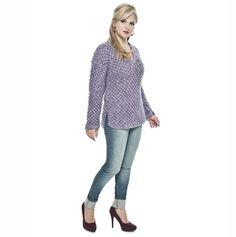 Blusa lilás decote V Tonalitá