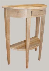 JUVIn Puolipyöreäpöytä, välitasolla lev. 55, 60, 75 ja 90 cm, tervaleppää