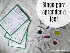 Bingo evolutivo para aprender a leer - Elenarte Bingo, Bilingual Education, Spanish Class, Reggio Emilia, Montessori, Literacy, Activities For Kids, Homeschool, Language
