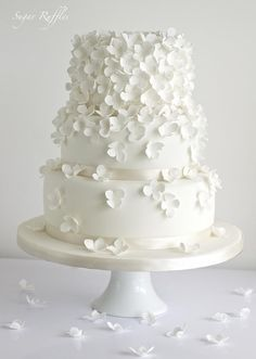 Wedding Cakes - Hydrangea Cascade Wedding Cake #2075659 - Weddbook