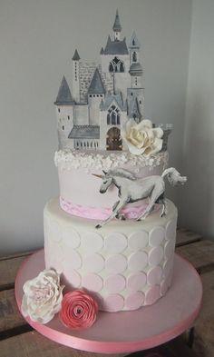 Princess Castle unicorn Cake