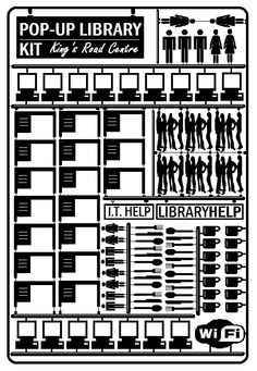 Pop-Up Library poster in good Newcastle design tradition - Hatton and Pasmore would be proud!  At the King's Road Centre, 28th April - 6th June http://www.ncl.ac.uk/library/contact/library-locations#popup