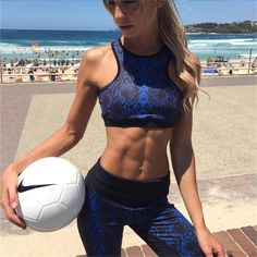 """""""The Bluprint"""" Halter Sports Bra and Leggings Set Bodybuilding Meal Plan, Affordable Activewear, Sexy Workout Clothes, Plus Size Workout, Instagram Giveaway, Personal Fitness, Easy Food To Make, Tops For Leggings, Fitness Transformation"""
