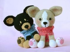In this article we will introduce you the best models of amigurumi crochet dog patterns. Crochet Patterns Amigurumi, Amigurumi Doll, Crochet Dolls, Crochet Yarn, Dog Crochet, Crochet Dog Patterns, Stuffed Animal Patterns, Crochet Animals, Chihuahua