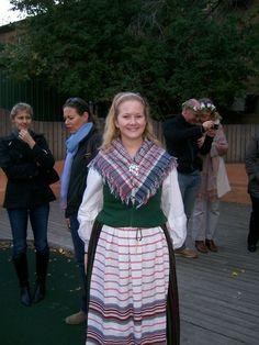 Ydredräkt - Östergötland Folk Costume, Costumes, Carl Larsson, White Apron, Kerchief, Daily Dress, Sweden, Ethnic, Fashion Dresses