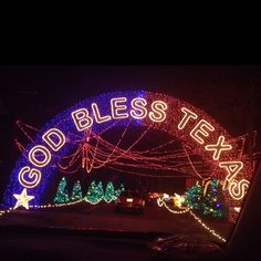 Thanks to Pam Jeremy for uploading this wonderful picture of Santas Wonderland in, College Station Texas. As it says, God Bless Texas ;-)
