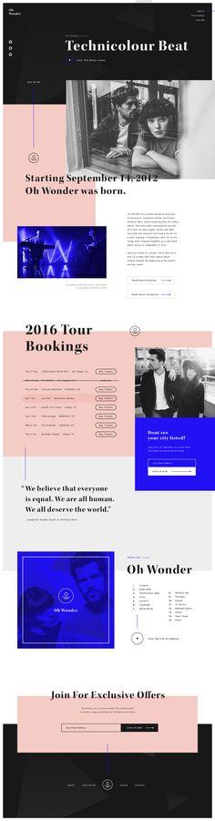 Ohwonder website final Pretty Website | Website Inspiration | Branding | Colors | Fonts | Layout | UI | UX Design | Web Design