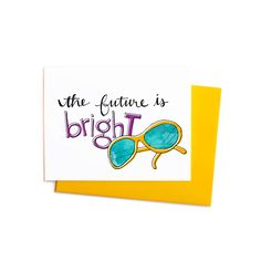 New to anopensketchbook on Etsy: Graduation / Congratulations Greeting Card The Future is Bright Boxed Set (17.00 USD)
