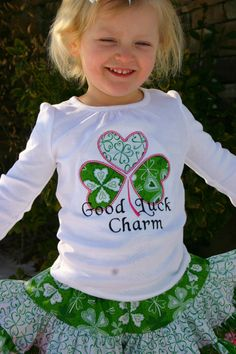 Ari's Angels Girls St Patrick's day Shirt by ArisAngels on Etsy, $25.00