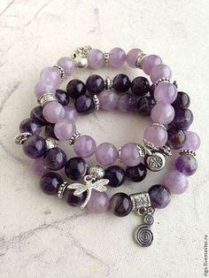 Gift for girlfriend - super image Amethyst Armband, Amethyst Bracelet, Gemstone Bracelets, Handmade Bracelets, Handcrafted Jewelry, Gemstone Jewelry, Beaded Jewelry, Jewelry Bracelets, Jewelery