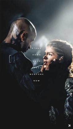 Octavia and Lincoln from The 100 Lincoln The 100, Lincoln And Octavia, Marie Avgeropoulos, The 100 Show, The 100 Cast, Bellarke, Movies And Series, Tv Series, Hunger Games