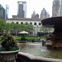 Rainy Bryant Park Bryant Park, New York City, The Neighbourhood, Nyc, Mansions, House Styles, Photography, Instagram, Mansion Houses