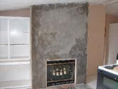 How to paint a Lava Rock fireplace Best thing we ever did