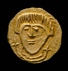 Anglo-Saxon shilling at the Ashmolean Museum, Oxford.