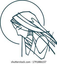 Portfólio de fotos e imagens stock de Bernardo Ramonfaur | Shutterstock Christian Tattoos, Christian Art, Spiritual Drawings, Virgin Mary, Girl Drawing Sketches, Religious Paintings, Jesus Art, Journal Layout, Angel Tattoo Men