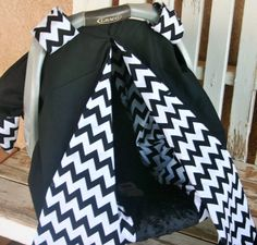 baby Infant Car Seat Canopy Cover black cotton front w/ black and white chevron Chicco Baby, Canopy Cover, Up Hairstyles, Black Cotton, Baby Car Seats, Chevron, Trending Outfits, Black And White, Infant Seat