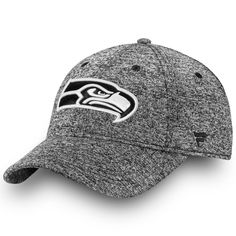 9f48655a9bc09 Men s Seattle Seahawks NFL Pro Line by Fanatics Branded Heathered Gray  Black   White Fundamental Adjustable Hat