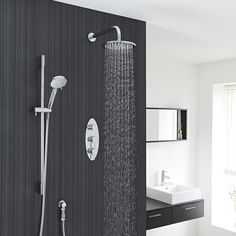 Create a contemporary look with this stylish shower kit