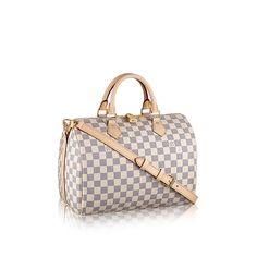 Speedy Bandoulière 30 Damier Azur Canvas - Handbags | LOUIS VUITTON