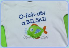 Adoption O-fish-ally personalized t shirt or bodysuit. The colors in this design can be changed to suit your taste. My embroidered applique