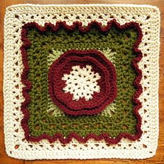 """Frostbloom 12"""" Afghan Square ~ free pattern ᛡ"""