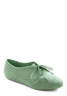 Vintage Flats mint green.[: