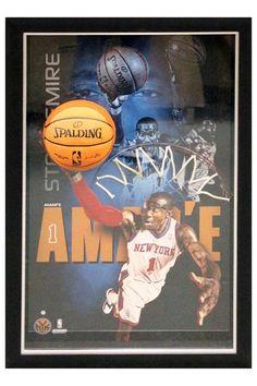 Amar'e Stoudemire New York Knicks Dunk Framed Breaking Through Collage