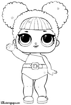 Glitter – LOL Surprise Doll Coloring Pages Bee Coloring Pages, Unicorn Coloring Pages, Cartoon Coloring Pages, Coloring Books, Chibi Kawaii, Kindergarten Coloring Pages, Lol Dolls, Copics, Colorful Pictures