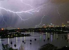 Electrical Storm Over Sydney Harbor, March 4, 2007