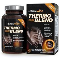 NatureWise Thermo Blend **NEW Advanced Formula** Thermogenic Fat Burner for Weight Loss and Natural Energy, 60 count