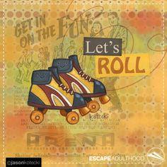 Lets Roll by Jason Kotecki. 8/100 of #ArtYear2016 #TinkerProject #retro #vintage #rollerskates