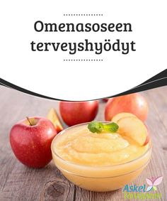 Omenasoseen terveyshyödyt   #Omenasosetta #valmistaessasi älä poista omenoiden kuorta, sillä se on erittäin #terveellinen.  #Terveellisetelämäntavat Chutney, Cantaloupe, Canning, Fruit, Healthy, Easy, Voordelen Van, Food, Healthy Recipes