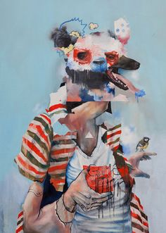 Joram Roukes,The Mexican Shirt, Oil on canvas, 90 x 120cm, 2012  (viatdylan)