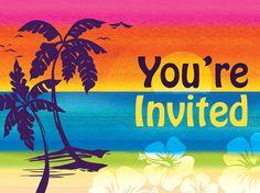 Aloha Summer Invitations | 8 ct
