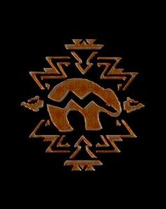 Bear Fetish Southwestern Symbolism Art Print Southwestern Art, Southwest Style, Native American Totem, Spirit Bear, Bear Silhouette, Gourd Art, Quilt Designs, Native Art, Gourds