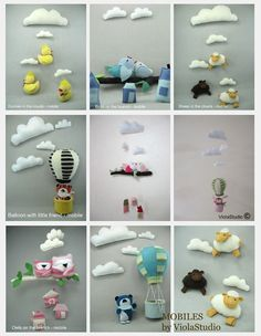 Baby Mobile Handcrafted Nursery Mobile with Birds by ViolaStudio