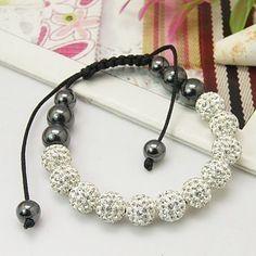 Fashion Shamballa Bracelets, with Grade A Rhinestone Beads by Jersica