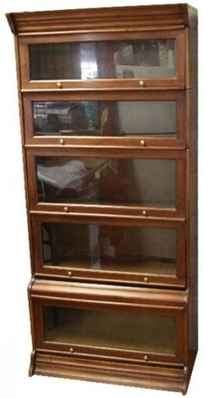 MR - barrister bookcase - but make stained glass door for all of ...