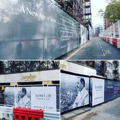 Stunning black and white printed hoarding designed manufactured and installed for in Kensington London. Kensington London, Large Format Printing, New Age, Creativity, Construction, Black And White, Printed, Instagram, Design