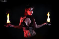 #fireperformance #bodypaint #firepalms #gothic #fantasy #dark #fireartist #fireshow #show #showgirl #tribal