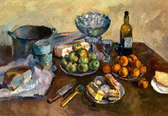 ARISTARKH LENTULOV (1882-1943) Still Life with Cakes and Fruit